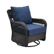 comfortable patio chairs aluminum chair: allen roth glenlee brown steel patio conversation chair