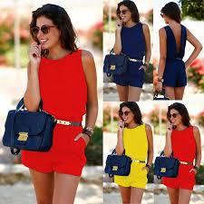 <b>New Fashion Women</b> Summer Playsuit Bodycon Clubwear Evening ...