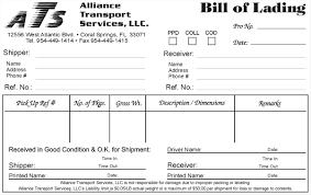bill of lading format sample resumes cover letters template form it