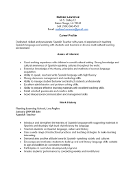 free teacher resume template   examples   ms wordspanish teacher resume template