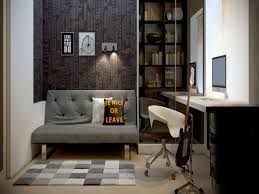 home office ideas using minimalist design to save space and budget alluring displaying grey couch close home decor alluring cool office interior designs awesome