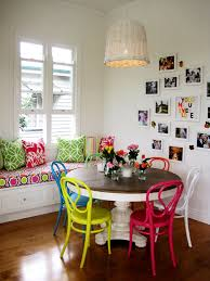 chairs painted chairs and dining rooms on pinterest bright coloured furniture