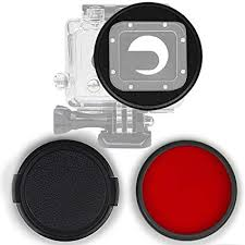 58mm Adapter + Red Filter + Lens Cover for Gopro ... - Amazon.com