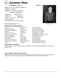 qualifications resume sample child acting resume template how to qualifications resume sample child modeling resume modeling child actor resume samples images sample child
