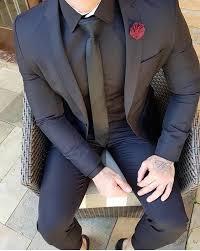 #Matte#Black#Coat#Pant | <b>Men's FASHION</b> in <b>2019</b> | Blazer outfits ...