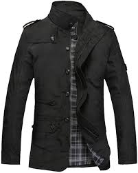 Sweatwater <b>Men's</b> Single Breasted Zip-Up <b>Thick Jacket</b> Stand Collar ...