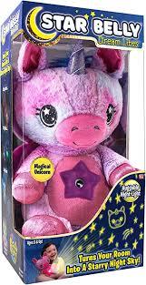 Ontel Star Belly Dream Lites, Stuffed Animal Night Light, <b>Pink</b>