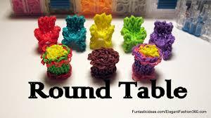 Rainbow Loom <b>3D Round Table</b> Charm - How to - Home Series ...