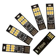 Yitee <b>5pcs USB</b> Light Keychain Super Bright 6 LEDs <b>Mini USB</b> Light ...