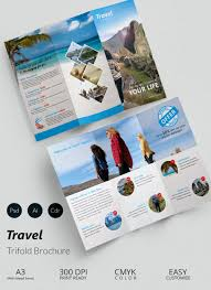 travel brochure templates sample example format travel a3 tri fold brochure template