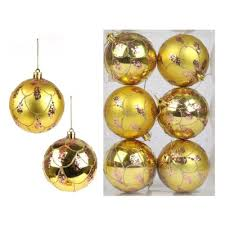 <b>Набор шаров Новогодняя сказка</b> 8 см, 6 штук, золото — купить в ...