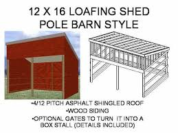do it yourself shed building plans   Discover Woodworking     ′ x ′ Loafing Shed Barn   Free House Plan Reviews