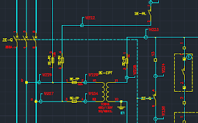 electrical cad software for wiring diagrams   elecdeselectrical schematic in cad created   elecdes electrical design software