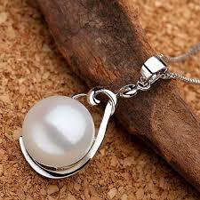 Sinya <b>real pearl</b> pendant <b>necklace</b> 925 sterling <b>silver</b> charm for ...