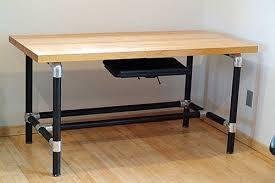 iron desk diy kee klamp desk black iron pipe table