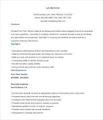 first time teacher resume template free customizable teacher resume templates