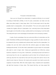 essay on people urbanization essay