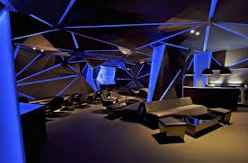 blue light of cool bar with black theme and amazing lighting amazing lighting