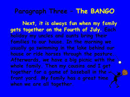 The Five Paragraph Essay The Bing   The Bang   and The Bongo