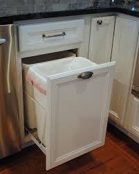 Kitchen Cabinet Garbage Drawer Kitchen Trash Cans Built Into Cabinets Or Not Tilt Out Trash Can