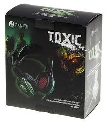 Игровая <b>гарнитура Oklick HS-L500G TOXIC</b> черный 2.2м мониторы