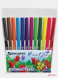 "<b>Фломастеры BRAUBERG</b> ""<b>Wonderful butterfly</b>"", 12 цветов ..."