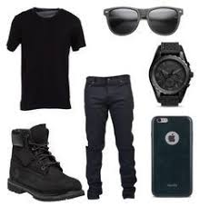 """""""All Black Party Outfit for Men"""" by deajhaboyd on Polyvore featuring ..."""