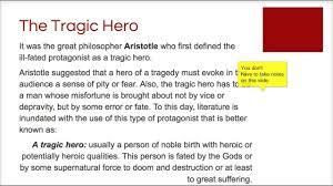 tragic hero flipped lecture tragic hero flipped lecture