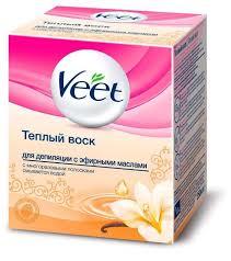 Veet <b>Тёплый воск</b> с эфирными маслами в банке — купить по ...