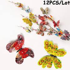 <b>12 Pcs</b> 3D Butterfly Wall Stickers PVC Children Room Decal Home ...