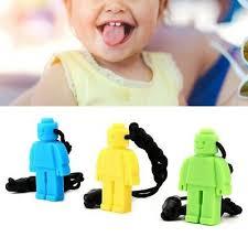 <b>3PCS</b> Autism Kids <b>Teething Necklace</b> Silicone <b>Robot</b> Baby Chew ...