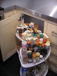 Pull Out Corner Cabinet Shelves Kitchen Corner Cabinet With Pull Out Storage Extended Kitchen