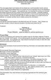 project summary templates premium templates one page project summary template