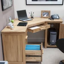 corner light brown wooden desk with drawers and shelves combined with smaller shelf on the awesome corner office desk remarkable brown wooden