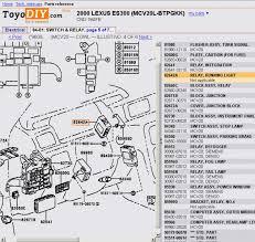 lexus es fuse box wiring diagrams