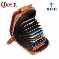 <b>JOYIR Genuine Leather</b> Credit <b>Card</b> Holders Wallets With Coin ...