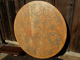 40 inch round pedestal dining table: custom made  inch diameter pedestal table with custom inlay