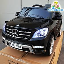 <b>Электромобиль Mercedes ML 350</b>, джип с резиновыми колёсами ...
