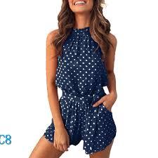 2019 <b>Brand</b> Women Dot <b>Jumpsuit Shorts</b> Summer Women'S <b>New</b> ...