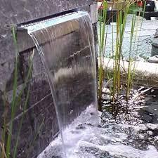 Fontana Cascata Da Giardino : Muro du acqua lama tracimazione fontana giardino e fai