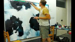 <b>Large Abstract</b> Painting - Black <b>White Acrylics</b> - YouTube