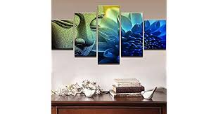 Modular Pictures For Living Room 5 Piece <b>Buddha</b> Art Canvas ...