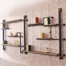 loft american country style wall shelf wood shelf bracket glove the old industrial pipes iron shelves american country style loft