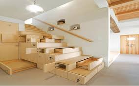 enchanting compact furniture for small space with cream wooden remarkable interior spaces design staircase be equipped apartment apartment storage furniture