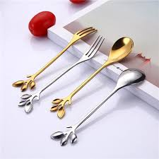 Durable <b>Christmas Spoon</b> Fork Branch Leaves <b>Spoon</b> Fork ...
