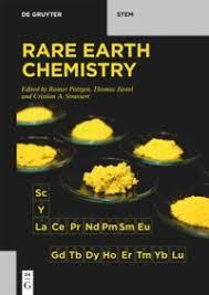 <b>Rare Earth</b> Chemistry