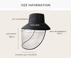 SAIBANGZI Unisex <b>Removable</b> Protective <b>Hat Face Shield</b> Anti Fog ...