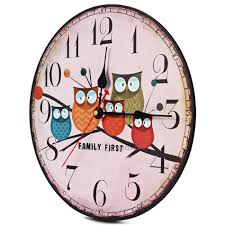 retro shabby chic home office aliexpresscom buy 2016 hot retro wooden wall clock owl vintage rustic chic vintage home office