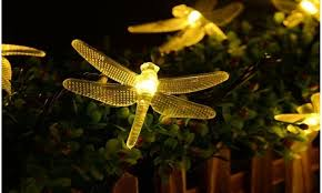 <b>Waterproof LED</b> Dragonfly Solar String <b>Garden Lights</b> | Groupon