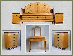 bedroom set2 birdseye maple art deco art deco desk computer